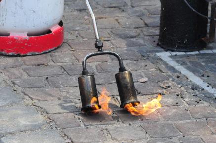 Désherbage thermique par les équipes Boissonnet